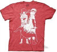 Naruto Shippuden Naruto And Sasuke Outline Licensed Adult T-Shirt