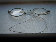 ANTIQUE OPTICAL SMALL LENS EYEGLASSES SPECTACLES SILVER FRAME OLD VICTORIAN