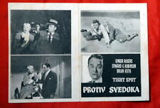 TIGHT SPOT PHIL KARLSON 1955 RARE EXYU MOVIE PROGRAM