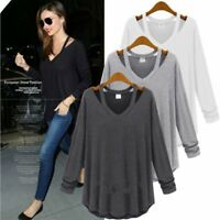 Fashion Women's Blouse Long Sleeve Loose Blouse Casual Shirt Summer Tops T-Shirt