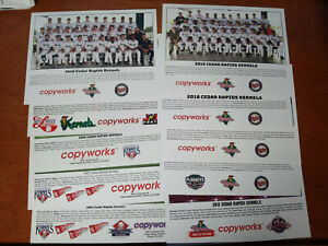 """U-pick 2"", lot of 10 Cedar Rapids Kernels baseball photos: 2003-19!!"