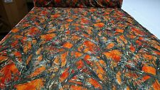 "Camo MC2 Blaze Orange True Timber Moisture Wicking Fabric 58"" 4-Way Stretch Knit"
