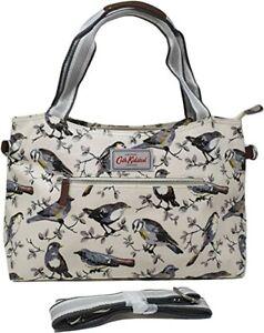 Cath Kidston Zipped Handbag Garden Birds Stone Colour New with Tag