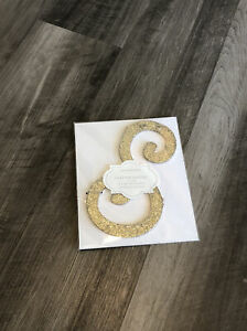 Pottery Barn Gold Glitter Letters Wall Decor New 8 in. tall New