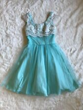 Modcloth Aqua Blue Vintage Inspired Prom Wedding Dress By Geode Size XS