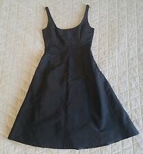 J Crew Black Silk Taffeta Dress Size 4 Little Black Dress Semi Formal Cocktail