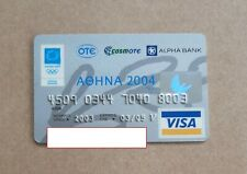 ATHENS 2004 OLYMPIC GAMES - Alpha Bank credit card, expired