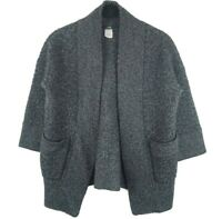 J.Crew Alpaca Merino Wool Womens Gray Open Front Cardigan Sweater Size Small