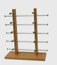 Wooden Sunglass Display Rack Holder 10 Glasses Countertop Sunglass Stand