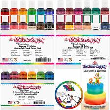 30 Color Cake Food Coloring Liqua-Gel Ultimate Set .75 fl. Oz. (20ml) Bottles
