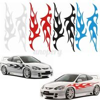 Pair Universal Flame Auto Car Body Graphic Decal Large Flaming Sticker Decor