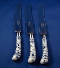 Antique Meissen Porcelain Blue Onion Knife Handle Porzellan Messer Zwiebelmuster