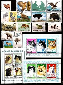 All Countries Blocks And Stamps Animals Wild And Domestic H288