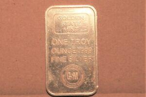 1 oz Silver Bar - Golden State Mint