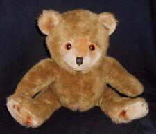 VINTAGE KAMAR BROWN BABY SITTING TEDDY BEAR STUFFED ANIMAL PLUSH TOY MADE KOREA