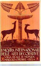 Riproduzione Cartolina Commemorative 1925 Mostra arti decorative Monza