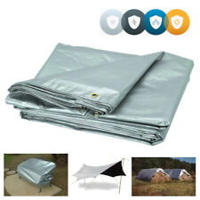 5m x 8m Professional Tarpaulin Strong Heavy Duty Waterproof Cover Roof Silver