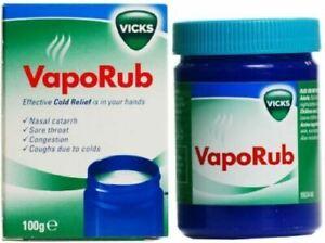 Vicks Vaporub ointment - 100g Helps nasal catarrh, sore throat congestion, cough