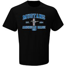 Ford Mustang American Made Short Sleeve Black Tee Adult XL T-Shirt