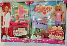 Simba  Steffi  Love Sunshine Twins & Baby Doctor Barbie size Lot of 2 play sets