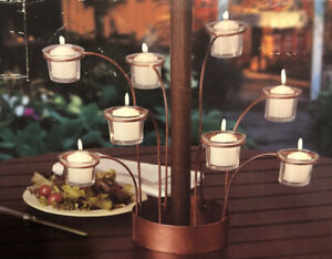 Votive Candleholder for Patio Umbrella Table Holds 8 Votive Candles New Open Box