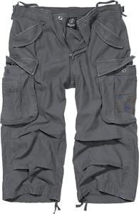 Brandit Industry Vintage 3/4 Cargo Hose Shorts Bermuda Anthracite Gr. L