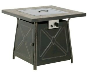 Beautiful 50,000 BTU Antique Bronze Finish Gas Fire Pit for the Wintertime