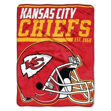 "New NFL Kansas City Chiefs Soft Micro Rasche Large Throw Blanket 46"" X 60"""