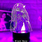 Acrylic Led Night Light Darling In The Franxx Zero USB 3D Lamp Bedroom Deco Gift