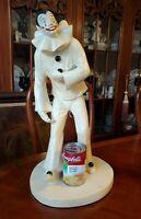 Pierrot Pantomime Sculpture Austin Prod Signed by Artist Klara Sever c.1979