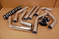 "2.5"" FMIC Intercooler Piping Kit Mandrel Aluminum Bends + Couplers Clamps 2.5in"