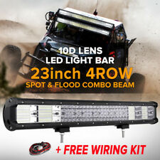QUAD ROW 23inch 2256W LED Work Light Bar Flood Spot Offroad 4WD Truck Pickup 20""