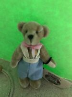 Ganz Cottage Collectibles Miniatures Teddy Bear ~ Billy ~ MWT, COA & Bag L Kunz
