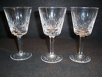 "Waterford Lismore Cut Crystal Water Stemware Goblets 5 7/8"" Set of 3"