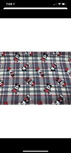 """Mickey Mouse, Grey Plaid, Curtain Valance 42""""W x15""""L, Country"""