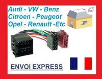 CABLE FAISCEAU ISO AUTORADIO RENAULT AVANTIME ESPACE KANGOO SCENIC MEGANE MASTER