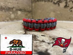Tampa Bay Buccaneers Paracord Bracelet Super Bowl LV NFC 2020 Champions Red&Grey