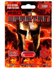 RED SPARTAN - 3 Pills - Male Enhancement Pill - Increase Time / Size / Stamina