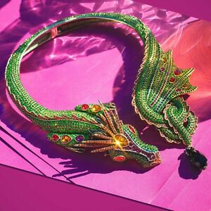 """NWT HEIDI DAUS """"Mythical Masterpiece"""" Crystal Dragon Collar Necklace ~ SOLD OUT"""