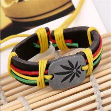 Man cannabis-leaf-bracelet-red-yellow-green-marley-jamaica-reggae-africa-irie