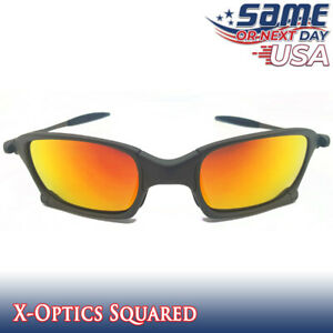 Squared X-Optics Metal Frame Polarized Sunglasses with Fire Iridium Lenses