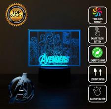 New Avengers Captain America Hulk 3D Acrylic LED Night Light Touch Lamp 7 Colour