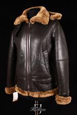 Winter-Damenjacken & -mäntel aus Leder mit Kapuze