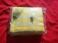 "Vintage 1960s Utica JP Stevens country gingham Yellow Blanket Double 80""x90"" new"