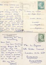 S386 Luxembourg 8 different rates covers postcards UK Grand Duke Jean stamps +