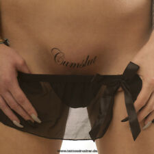 2 x Cumslut - Tattoo Schriftzug in schwarz - Temporary Fetish Fun Tattoo (2)