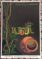 Isabel Bernal La Botija 76 Movies DIVEDCO Puerto Rico Serigraph Cartel Poster