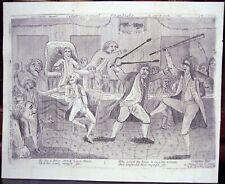 """Congressional Pugilists"" Original Etching, 1798"
