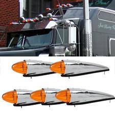 5x 17 LED Amber Torpedo Cab Marker Roof Running Top Light For Kenworth Peterbilt