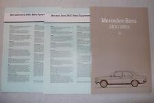 Prospekt Mercedes W 123 - 240 D, 300 D,  9.1982, 34 S. + 2 Datenbl., englisch